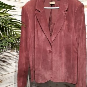 Plum colored suede jacket